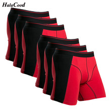 6Pcs/lot Fashion Sexy Brand Cotton Men's Boxer Shorts Male B