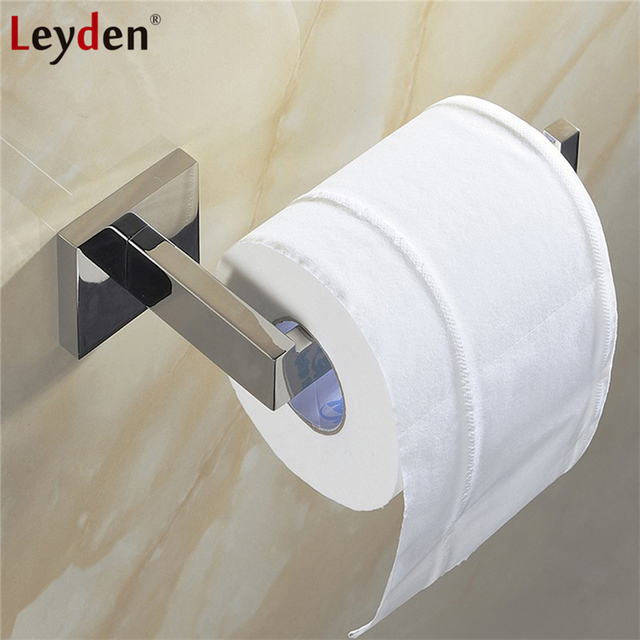 Leyden High Quality Toilet Paper Holder 304sus Stainless Steel Wall Mounted Orb Brushed Nickel