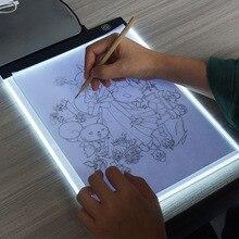 החדש קליפ + A4 ציור לוח LED כתיבת ציור אור תיבת USB מופעל Tablet Copyboard ריק בד עבור ציור כלי