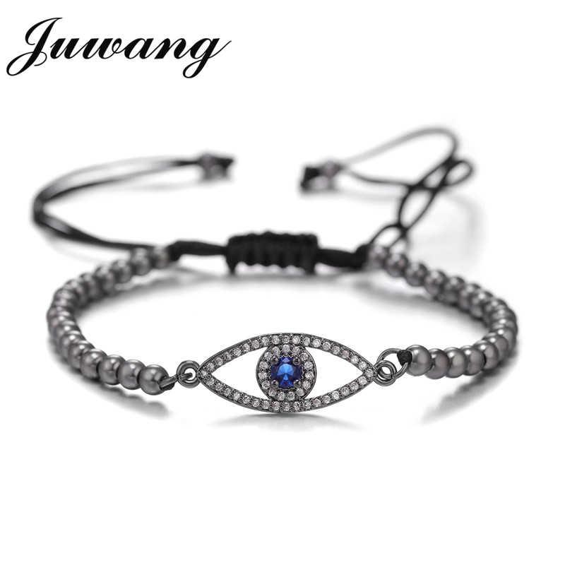 JUWANG Turkish Greek Evil Eyes Beaded Bracelet Men Women Braslet Jewelry Accessories Bransoletki Damskie Pulseras Mujer