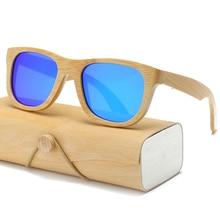 Polarized Wood Sunglasses Men women square bamboo Women Mirr