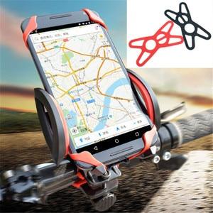 Image 3 - Jadkinsta 탄성 실리콘 오토바이 전화 홀더 Gopro 전화 7 7 플러스 8 11 레드 블랙 고무 밴드