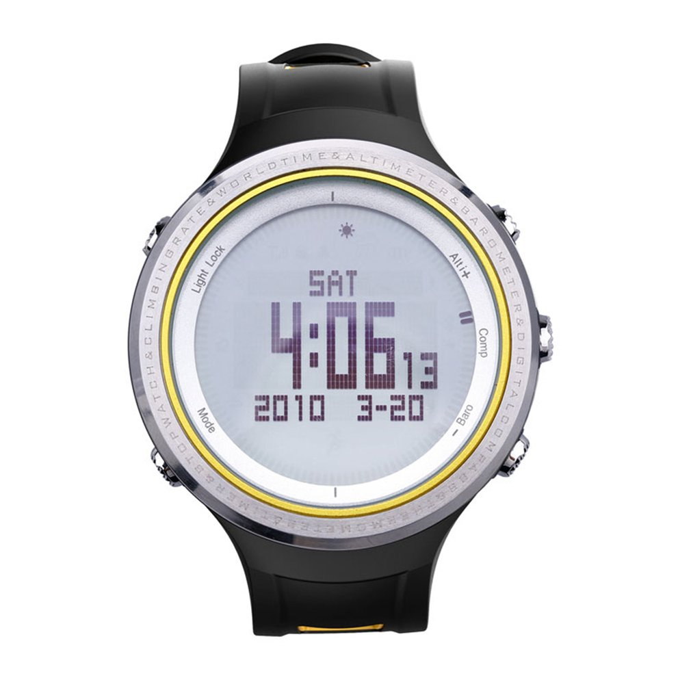 SUNROAD Multifunctional Waterproof Backlit Male Casual Sport Watch Weather Forcast Pedometer Stopwatch Outdoor Digital Watch military tactical multifunctional waterproof shockproof watch durable outdoor climbing running men wristwatch stopwatch