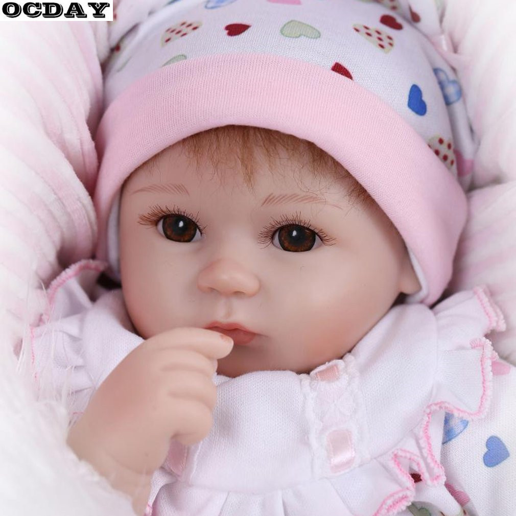 48CM Kawaii Kids Reborn Baby Doll Toys Soft Silicone Lifelike Newborn Dolls Girl Best Xmas New Years Toys Gift For Children Hot