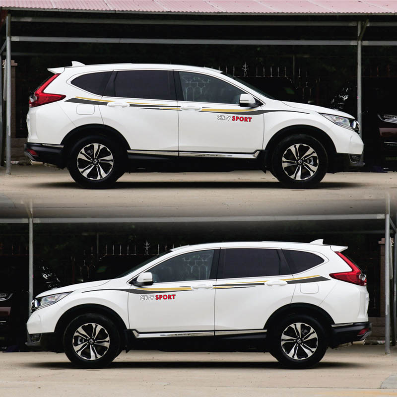 World Datong Both side body sport auto stickers For Honda CRV Exterior Side door Decal Car Vinyl Film Body Customized Decal in Car Stickers from Automobiles Motorcycles