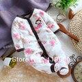 2014 nueva primavera otoño bebé ropa del bebé del mameluco de tela polar nacidos mamelucos largos de la manga niños desgaste general del bebé
