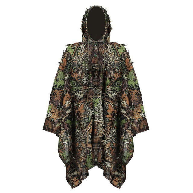 Тактический 3D Джунгли охотничья одежда Открытый лист лесной Камуфляжный плащ военный Ghillie костюм для игры в страйкболл, войнушки