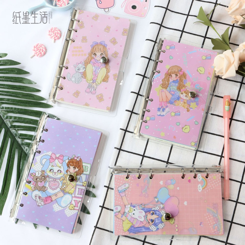 1pcs New diary PVC shell loose-leaf notebook So much cuter diary notebook cartoon small fresh notebook diary diary1pcs New diary PVC shell loose-leaf notebook So much cuter diary notebook cartoon small fresh notebook diary diary