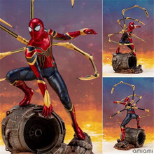 18cm Iron spider Spiderman Avengers Super hero Spider-Man Far From Home Action figure toys doll Christmas gift with box jhacg 18cm spiderman venom the villain action figure toys doll christmas gift no box
