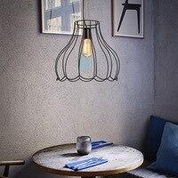 Nordic modern E27 iron single head pendant lamps tea shop barber shop bar lighting RETRO art Iron pendant light ZA98201