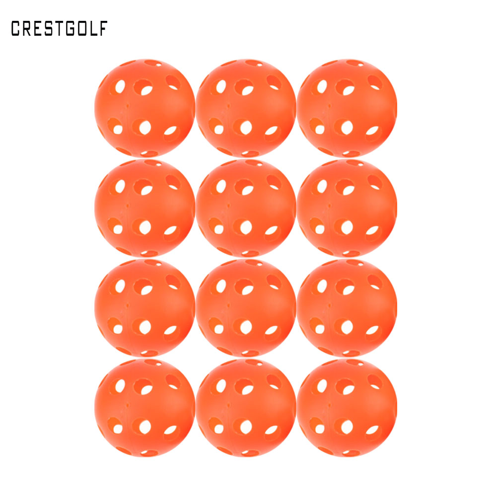 12pcsX90mm Pickleball Plastic Airflow WiffleBall Hollow Indoor Practice training Ball baseball golf ball font b accessories