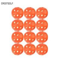 CRESTGOLF 12 pcs X 90mm Pickleball Flux D'air En Plastique Creux Pratique À L'intérieur Ballon D'entraînement De Baseball Balle De Golf Accessoires