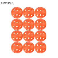 CRESTGOLF 12 stücke X 90mm Pickleball Kunststoff Luftstrom Hohl Indoor Praxis Training Ball Baseball Golf Ball Zubehör