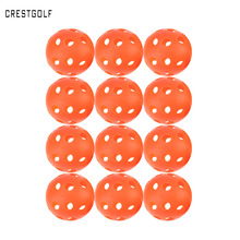 CRESTGOLF 12pcsX90mm Pickleball Plastic Airflow Hollow Indoor Practice Training Ball Baseball Golf Ball Accessories