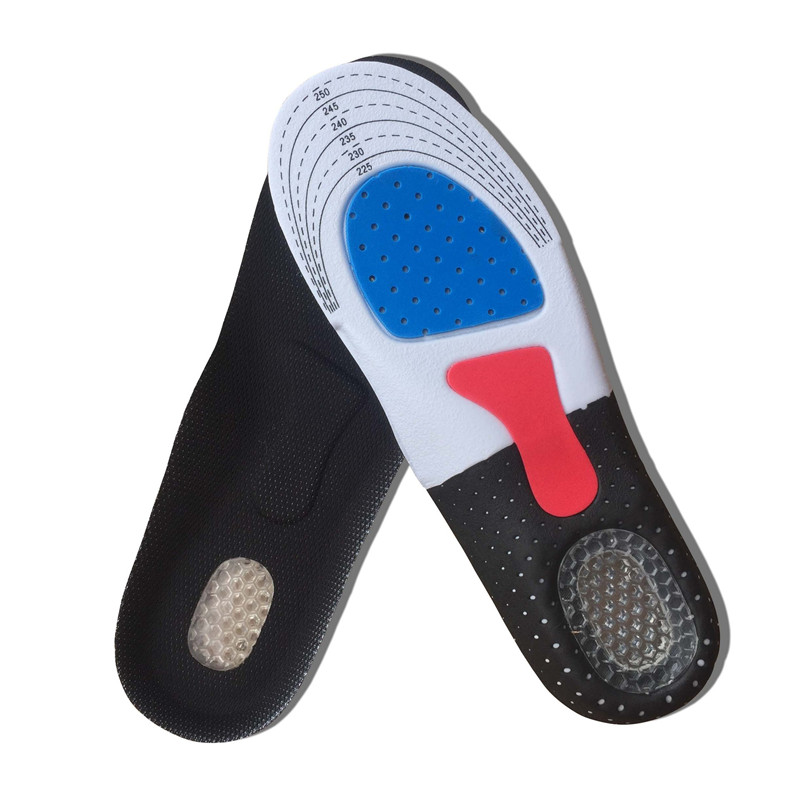 1Pair Unisex Sport Insoles Shoes Pad Orthotic Arch Support Running Insoles Insert Shock Absorption Cushion Men Women Foot Pads
