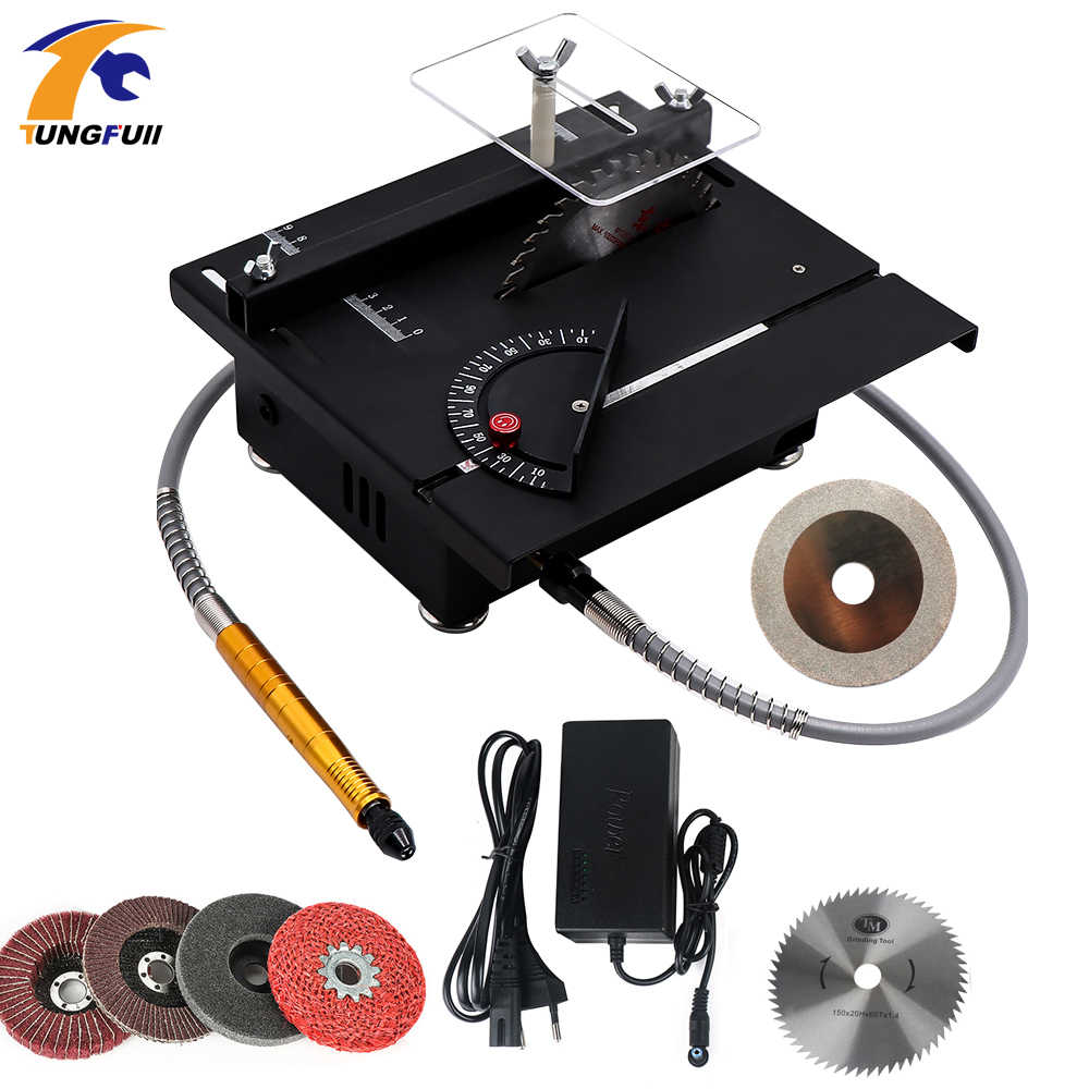 Multi-Function Jade Carving Machine Table Mill Small Cutting Machine Micro Table Saw Beeswax Woodworking Polishing Tool Drill