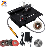 Multi Function Jade Carving Machine Table Mill Small Cutting Machine Micro Table Saw Beeswax Woodworking Polishing Tool Drill