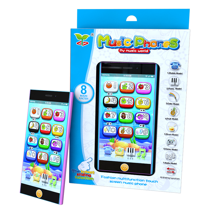 Multifunctional Mobile Phone Toys,Smart Touch Screen Learning Machines,Educational learning Toy Phone with Projection