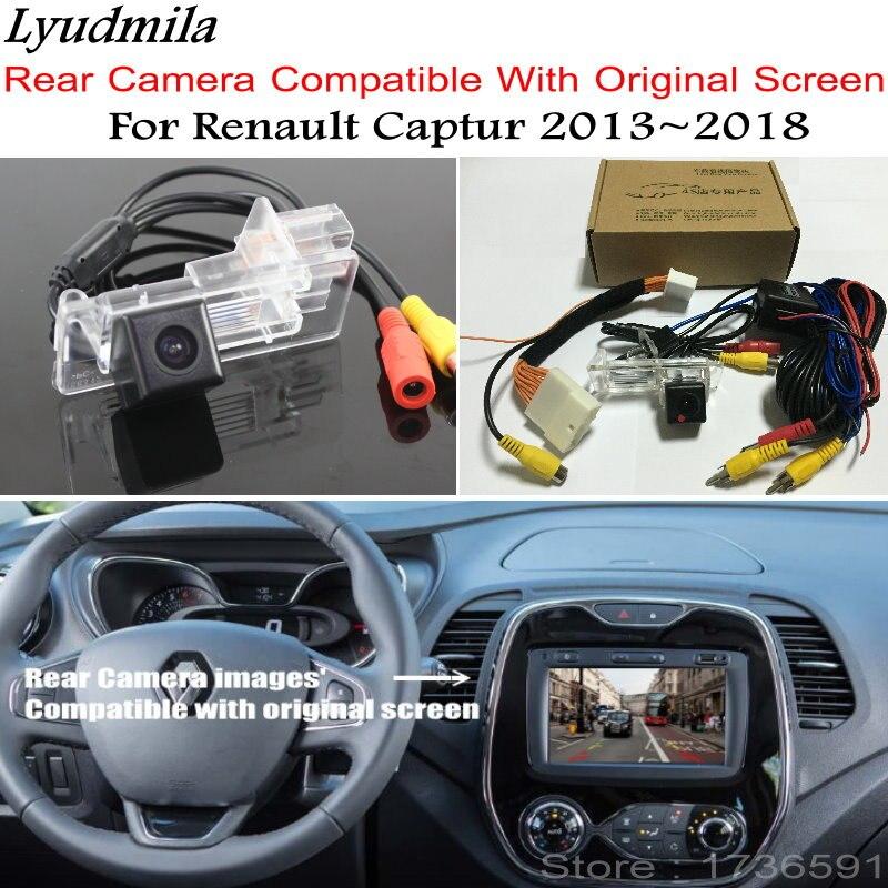Людмила автомобиля Обратный камера с 24Pin кабель адаптера для Renault Captur 2013 ~ 2018 оригинальный экран Совместимость заднего вида