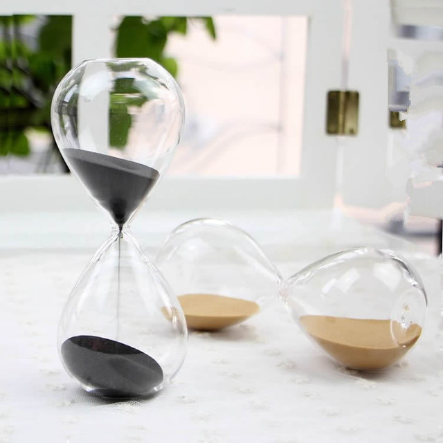 1PC 45 minutes Awaglass Hand-blown Timer clock Magnet Magnetic Hourglass ampulheta crafts sand clock hourglass timer JY 1189-6