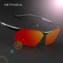 VEITHDIA Aluminum Magnesium Polarized Mens Sunglasses Night Driving Blue/red Mirror Sunglasses Accessories For Men 6502