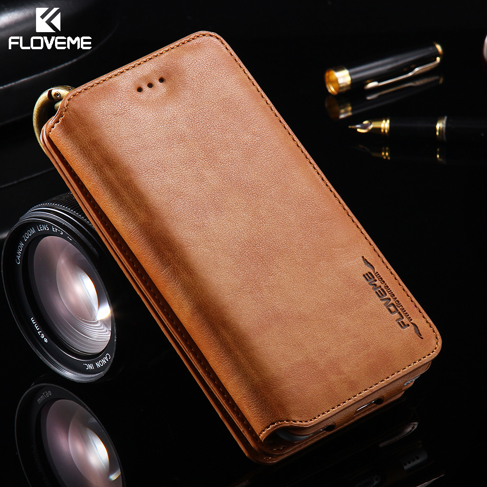 iphone 5 leather case floveme for iphone 7 6 6s plus 5 5s se wallet leather 14536