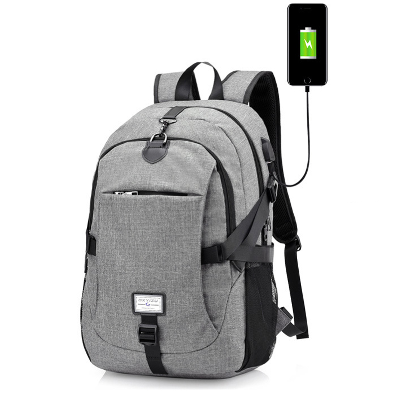 2018 Men's Backpack Oxford Multifunction USB charging Backpack Student School Backpack Travel Bag for Boys Laptop Backpacks Male new original nj40 u1 e warranty for two year