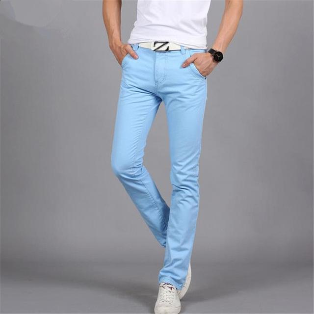 2016 Nuevos Pantalones de Los Hombres de Alta Calidad Del Verano Sección Delgada Pantalones Masculinos Pantalones Elásticos Ocasionales Famosa Marca de Ropa de Algodón Tamaño 29-38
