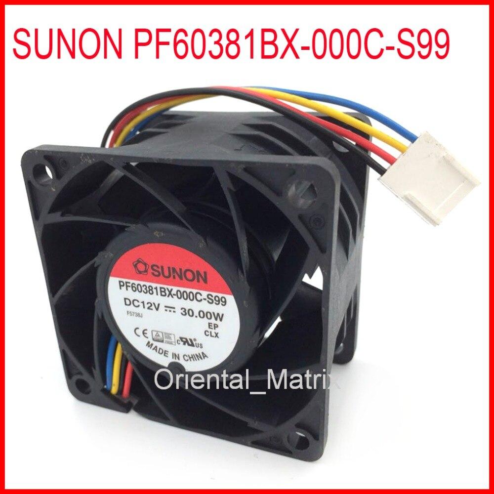 Brand Sunon PF60381BX-000C-S99 606038mm 12V 30W Cooler Cooling Fan