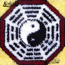 Benang Bordir Kait Karpet Kit Cross Stitch Set Dijual Tai Chi Gosip Cushion Mat DIY Merajut Karpet Benang Menjahit(China)