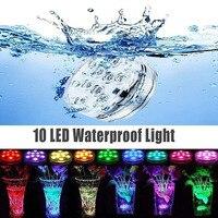 10 светодиодный LED водостойкий пульт дистанционного управления Погружной подводный светильник бассейн садовая ваза нарувечерние украшения...