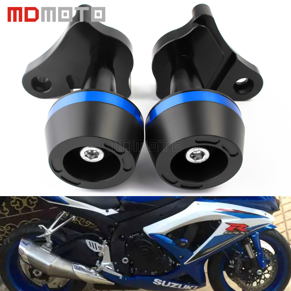 for Suzuki GSXR 600/750 R K6/K8 06-16 CNC Motorcycle accessories Crash Pads Frame Sliders Anti Crash Left&Right Sides Protector