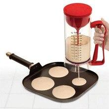 DIY Baking Tools Bakeware Red Plastic Electrical Batter Dispenser Eggs Tart Pancake Baking Tools Cream Mix Pots Jug Home Kitchen