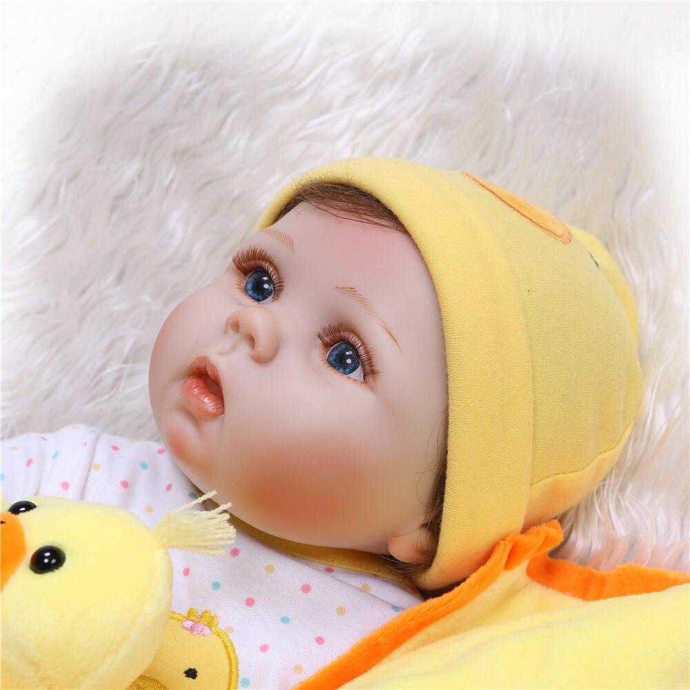 NPK 55 cm muñecas renacidas de silicona completa bebé muñeca realista renacida 22 pulgadas vinilo completo Boneca BeBes Reborn muñeca para las niñas-in Muñecas from Juguetes y pasatiempos    3