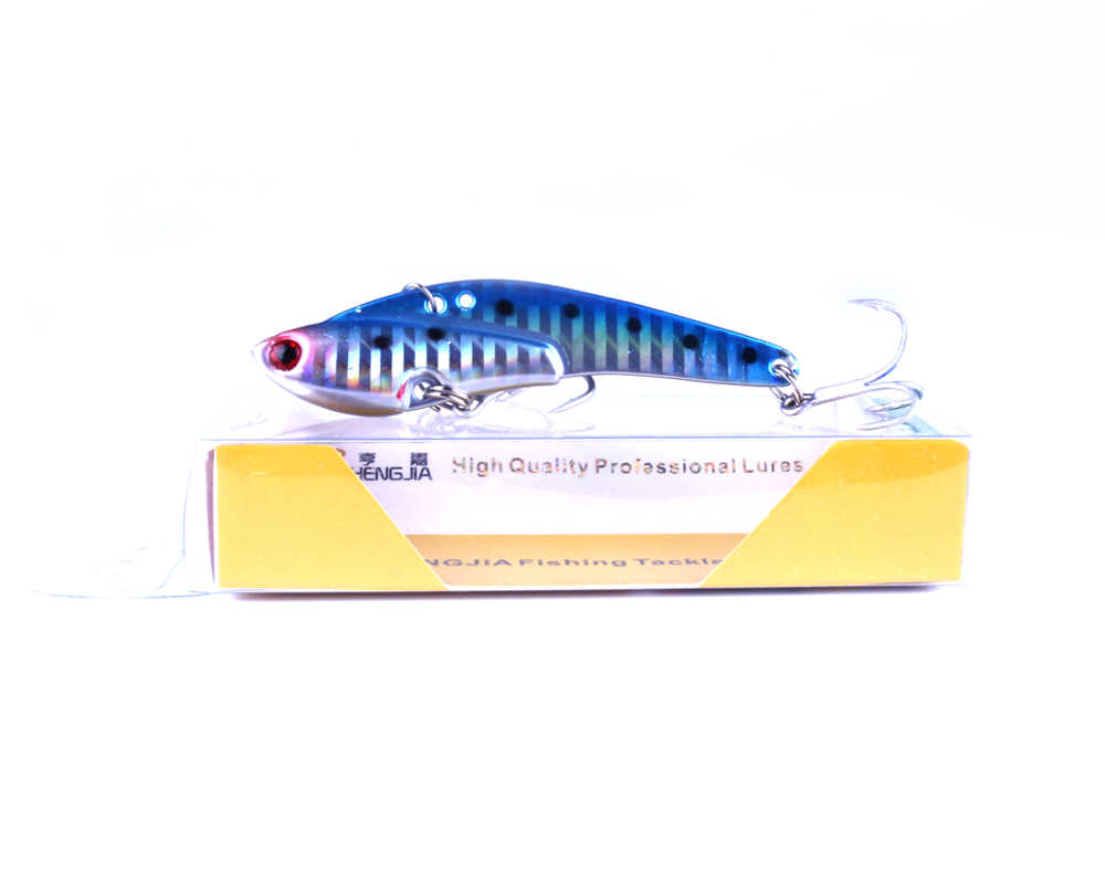1Pcs New Vibration Fishing Lure Hard Metal VIB Rattle Lures 7.5cm 21g Sinking Bait Blade Fishing Lure Swimbait Fishing Tackles