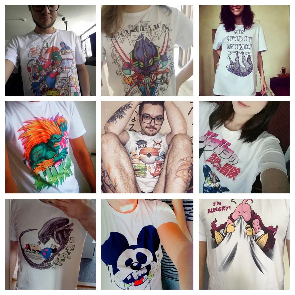 Merkki Miesten T-paita Uusi käsin piirretty japanilainen yksinäinen - Miesten vaatteet - Valokuva 6