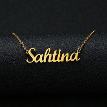 Gold Silver Color Personalized Custom Name Pendant Necklace Customized Cursive Nameplate Necklace Women Handmade Birthday Gift v attract handmade personalized double name necklace block letter font custom jewelry women birthday gift couple nameplate kolye