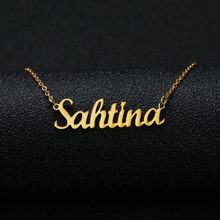 Gold Silver Color Personalized Custom Name Pendant Necklace Customized Cursive Nameplate Necklace Women Handmade Birthday Gift(China)