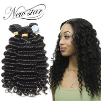 NEW STAR Deep Wave 3 Bundles 10 34 Inches Virgin Human Hair Extension Brazilian Unprocessed Cuticle Aligned Weave Natural Color