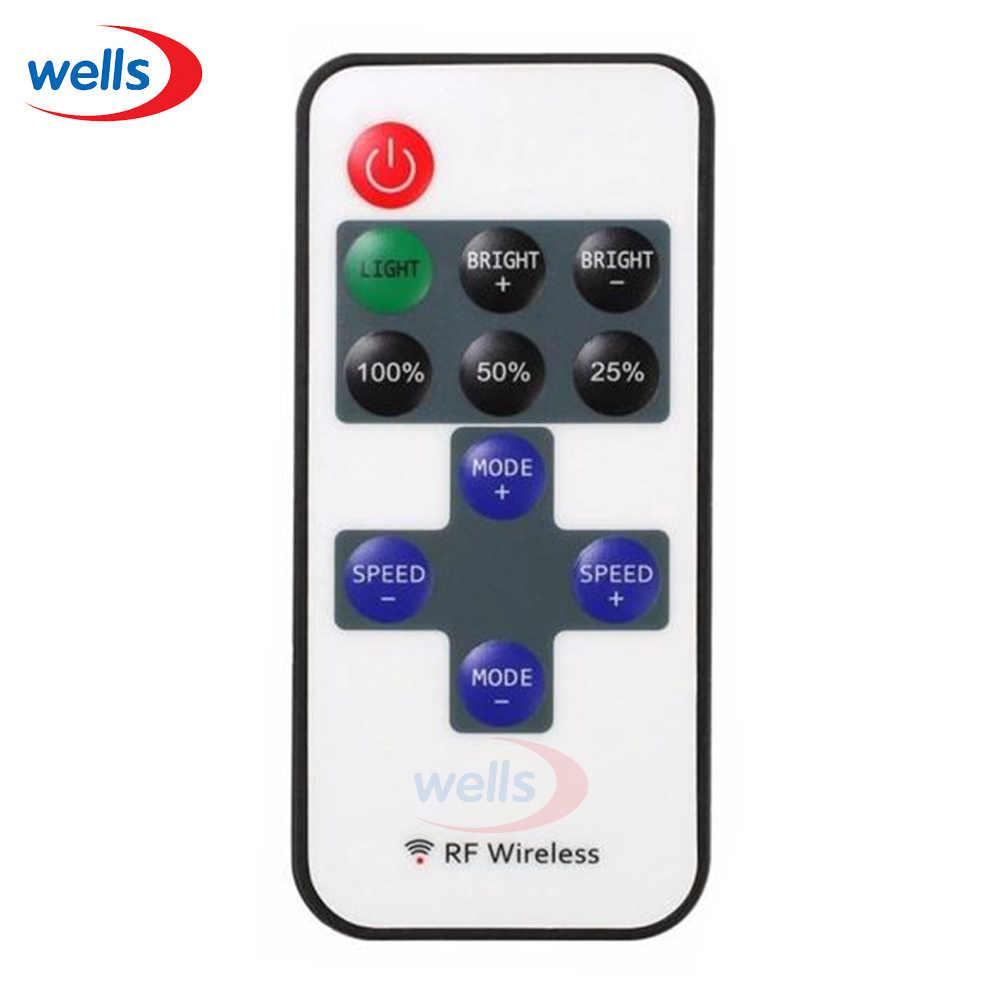 Лидер продаж 1 шт. маленький, радиочастотный, беспроводной светодиодный диммер дистанционный контроллер использования для одной Цвет 5050 3528 5630 5730 3014 Светодиодный световая полоса