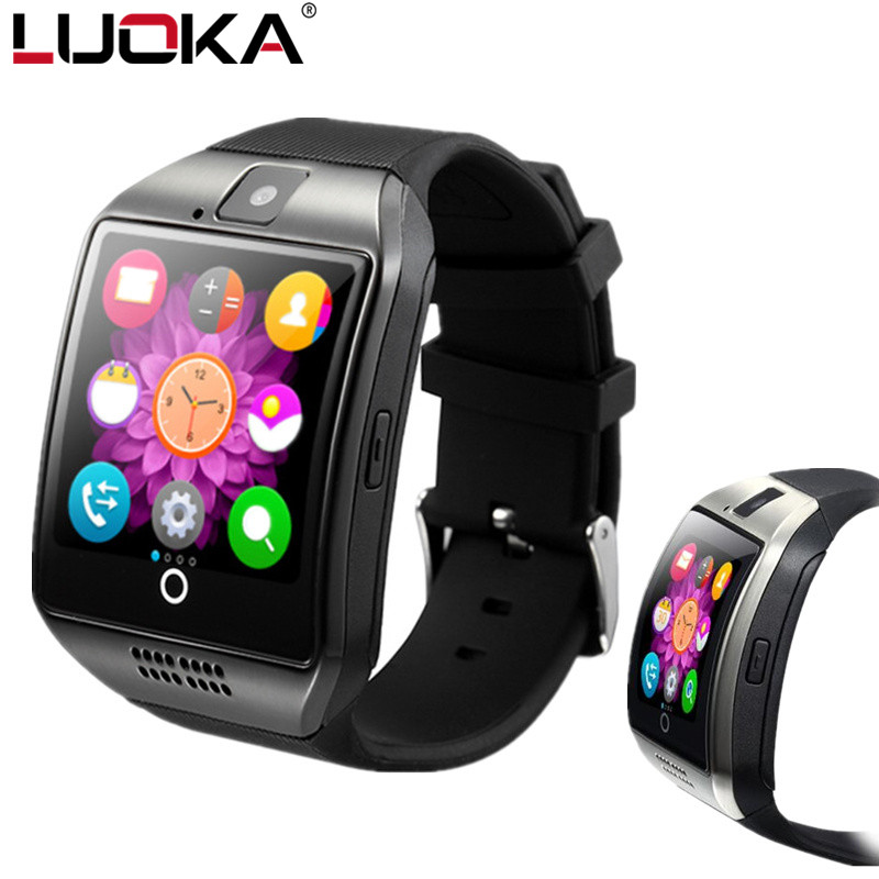 LUOKA Q18 Passometer Smart watch with Touch Screen camera Support 2G Nano SIM TF card Bluetooth smartwatch for Android IOS Phone z50 smart watch phone bluetooth3 0 connected with camera support sim card tf card smartwatch for ios and android smartphone