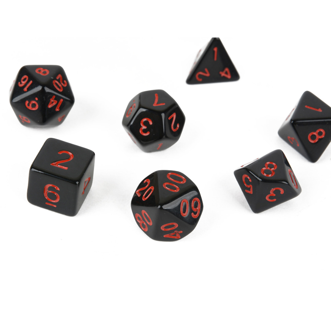 7Pcs/Set 4/6/8/10/12/20 Sided Dice Multi-sided TRPG Game Dungeons & Dragons Board Game Dice D4-D20 For Entertainment Play Gaming