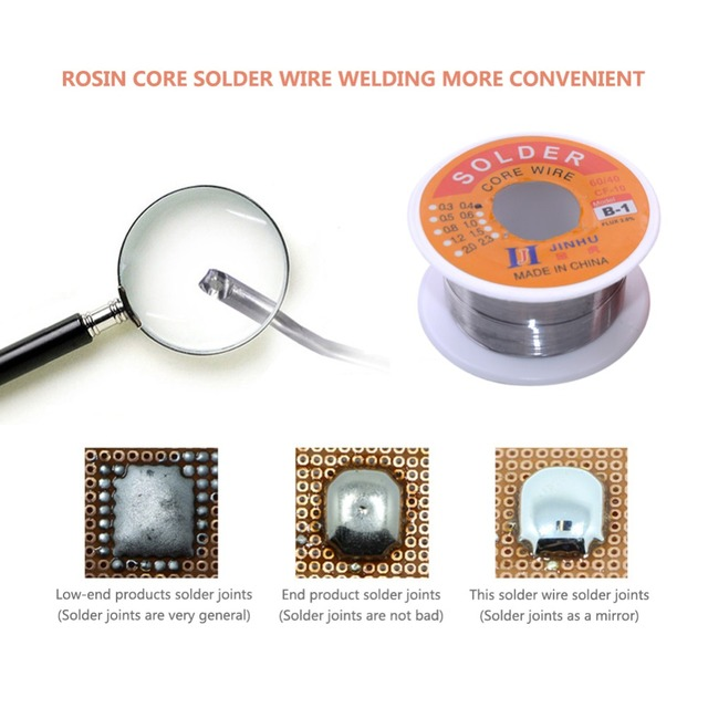 Solder Wire 0.3/0.4/0.5/0.6/0.8/1.0mm Diam 60/40 63/37 Clean Rosin Core Welding Tin Lead Solder Iron Wire Reel Soldering Tools  2