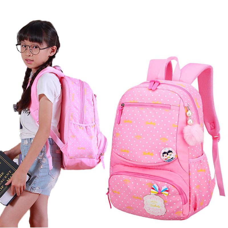 New 2018 Children School Bag For Girls Students Kids Backpack Casual Bags Backpacks For Teenage Girl Primary Bookbag Backpack ...