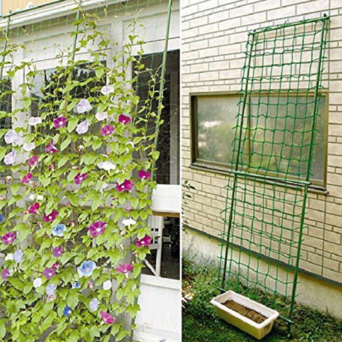 0.9*1.8m Garden Fence Millipore Nylon Net Climbing Frame Gardening Net Plant Fence Anti-bird Net Vegetable Plant Trellis Netting