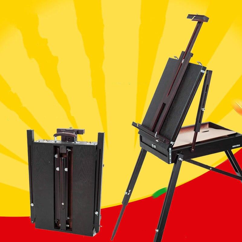Pliage Art artiste bois chevalet peinture matériel accessoires multifonctionnel aquarelle peinture à l'huile valise boîte croquis chevalet cadre