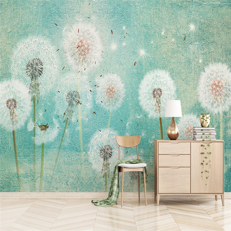 Custom Size Wallpapers Romantic Dandelion Photo Wall Mural Fashion 3D Wallpapers for Living Room TV Background Wall Wallpapers beibehang warm european bedroom wallpapers 4d stereo nonwovens wallpapers living room tv background wallpapers