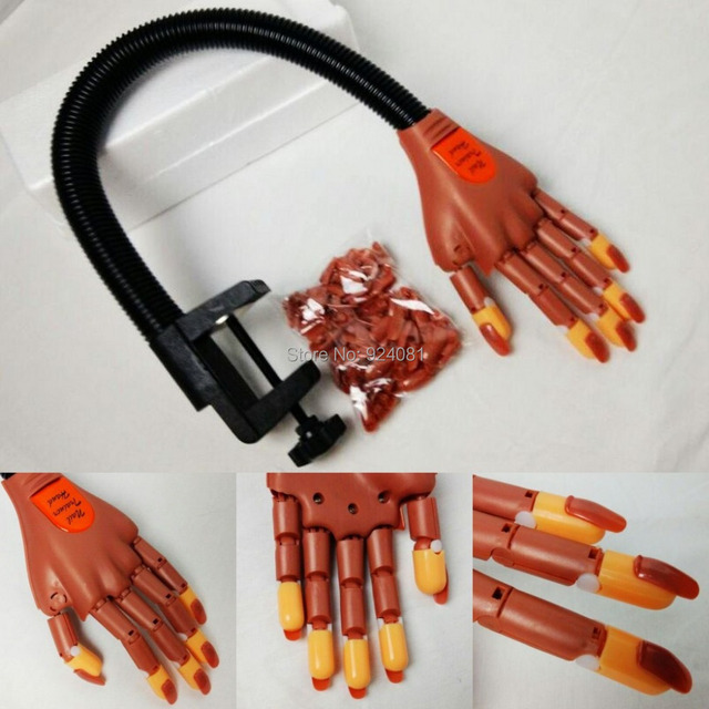 New Professional Nail Trainer Practice Hand Super Flexible Fingers ...
