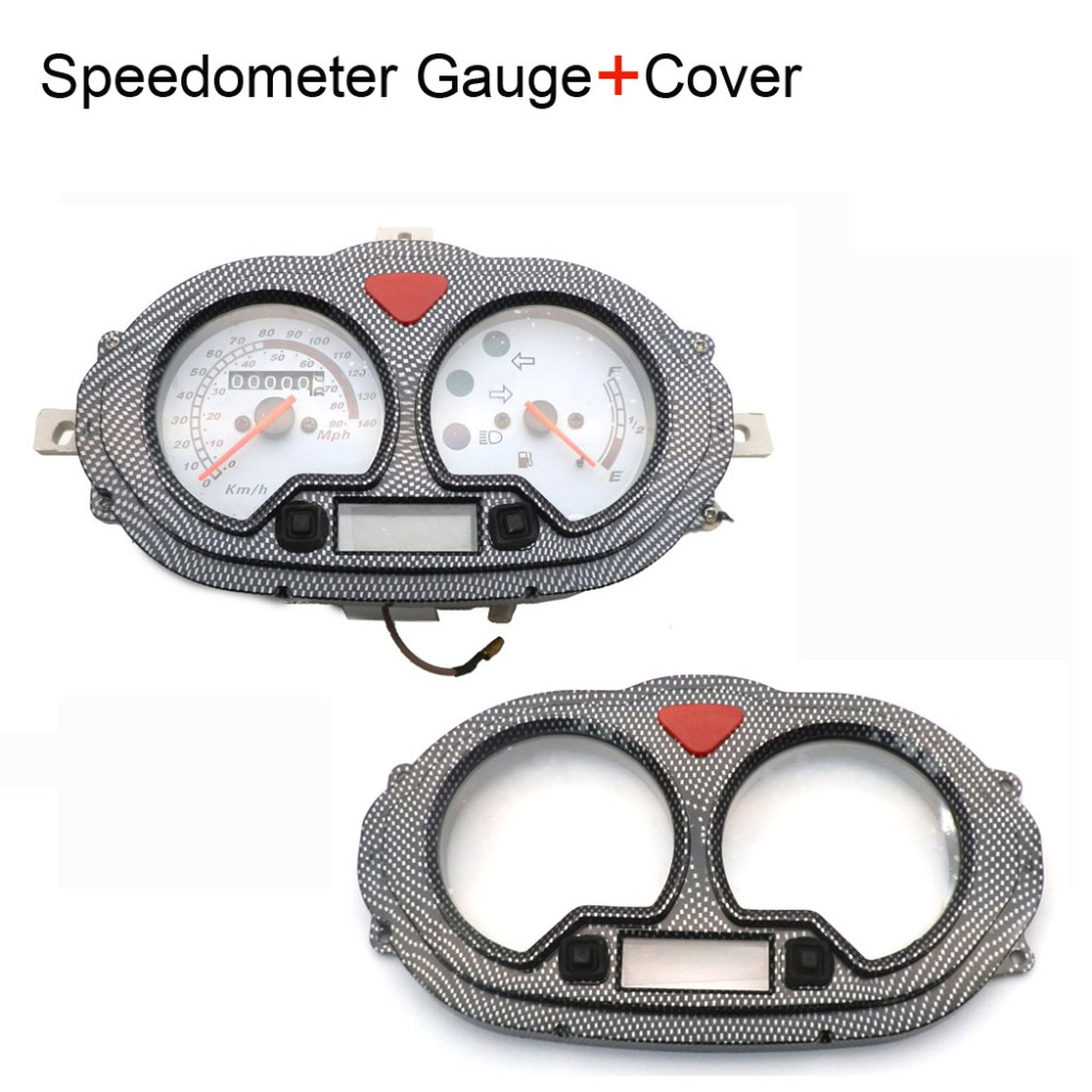 Scooter Speedometer Dash Instrument For B05 B08 Cpi Popcorn Hussar Roketa Maui 50 Wiring Diagram Gy6 50cc 80cc 125cc Moped Light Gas Gauge With Digital Display Lens Cover