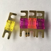 50pcs/lot 20A 30A 40A 50A 60A 70A 80A 100A 125A Golden Plated MINI ANL AFS Fuse Auto Car